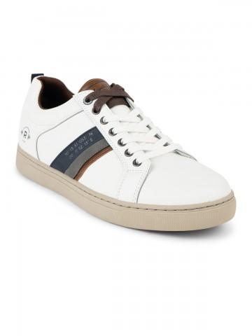 Baskets tennis chaussures homme 40 41 42 43 44 45 46 blanc blanche marron Sport