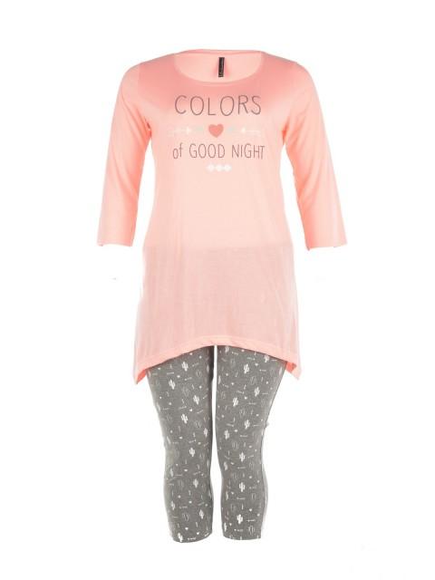 Pyjama court grande taille femme