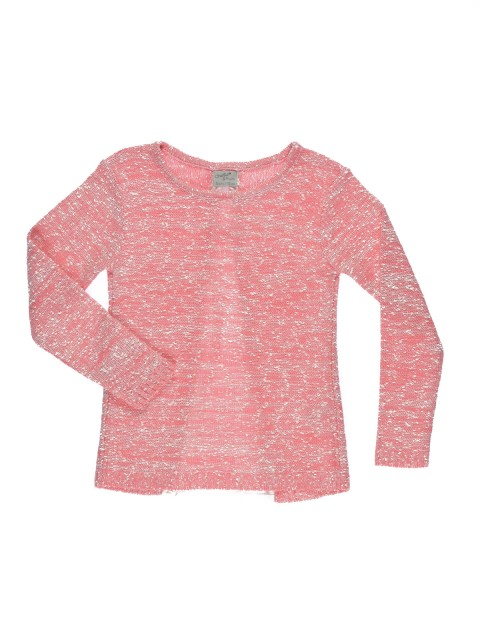Pull fille coloris rose (2-6A)
