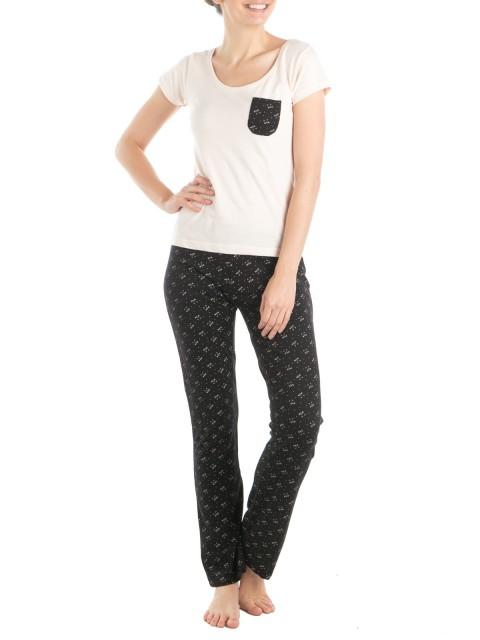 Pyjama long chat 1er prix femme