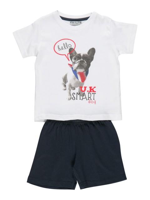 Pyjashort garçon imprimé chien (2-6A)