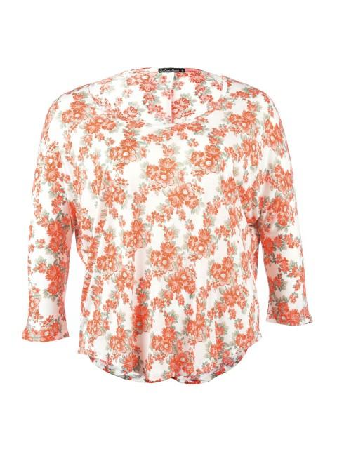 T-shirt fleurs femme grande taille
