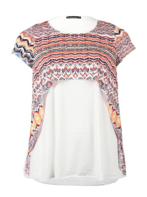 Tee-shirt coupe asymétrique imprimé