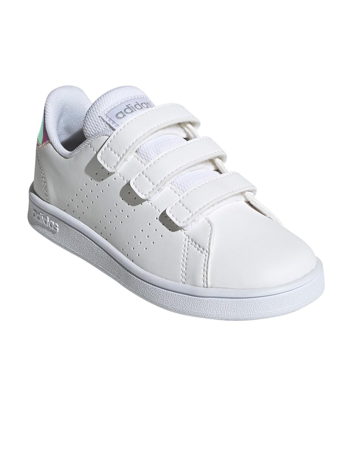 Baskets adidas blanches fille (28-35) - DistriCenter
