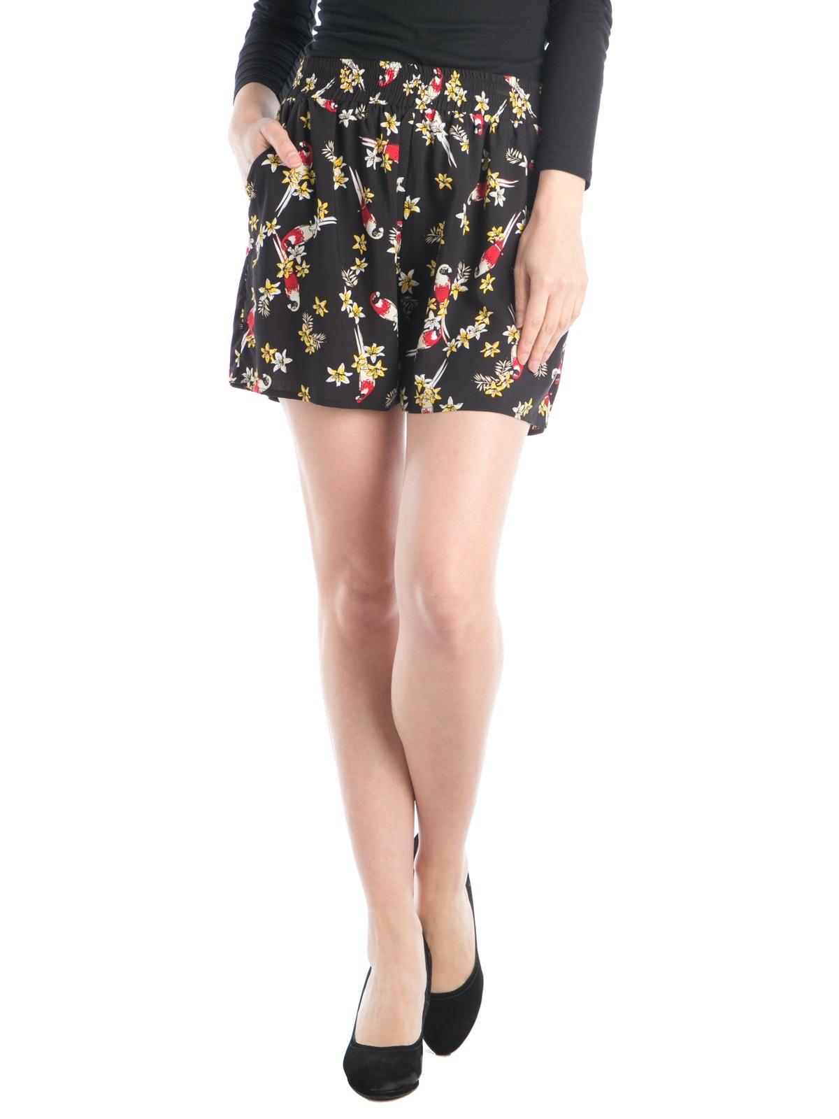 Short femme fluide imprimé perroquets - DistriCenter 831843f90d2
