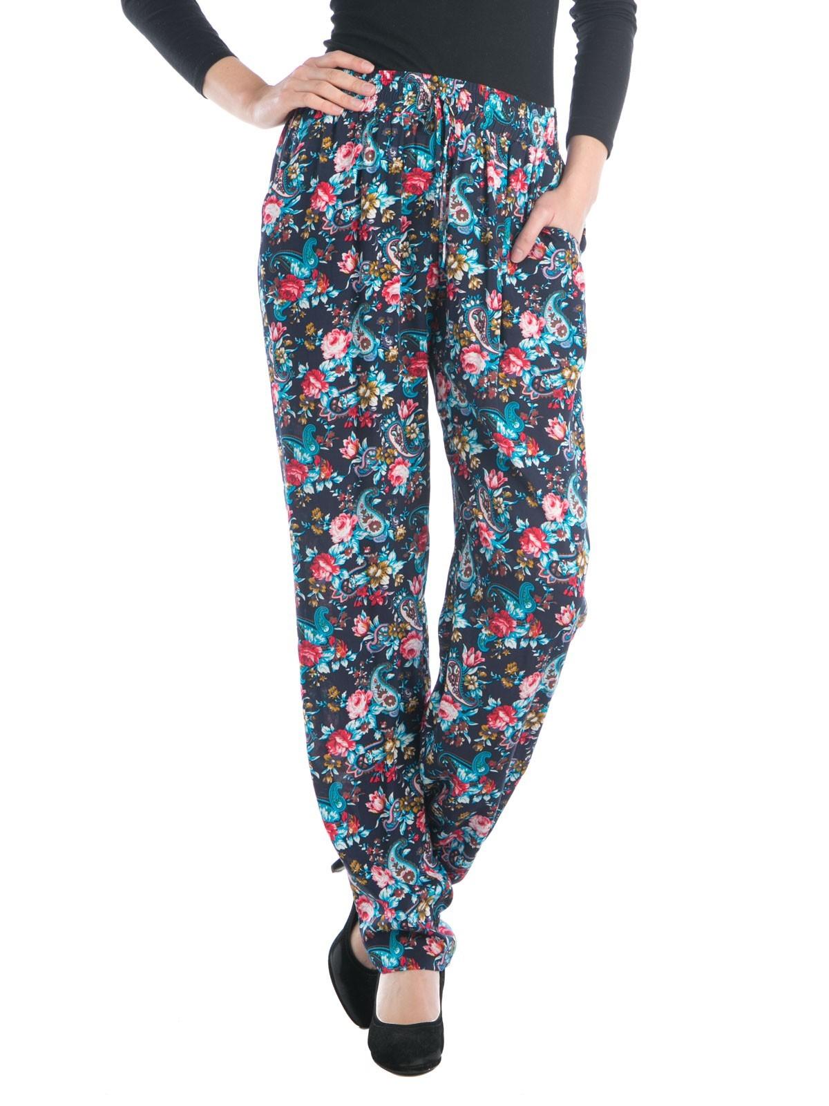 Pantalon fluide imprimé fleurs - DistriCenter 491963722a4