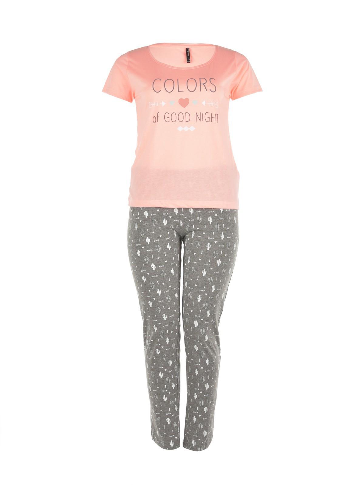pyjama long grande taille femme districenter. Black Bedroom Furniture Sets. Home Design Ideas
