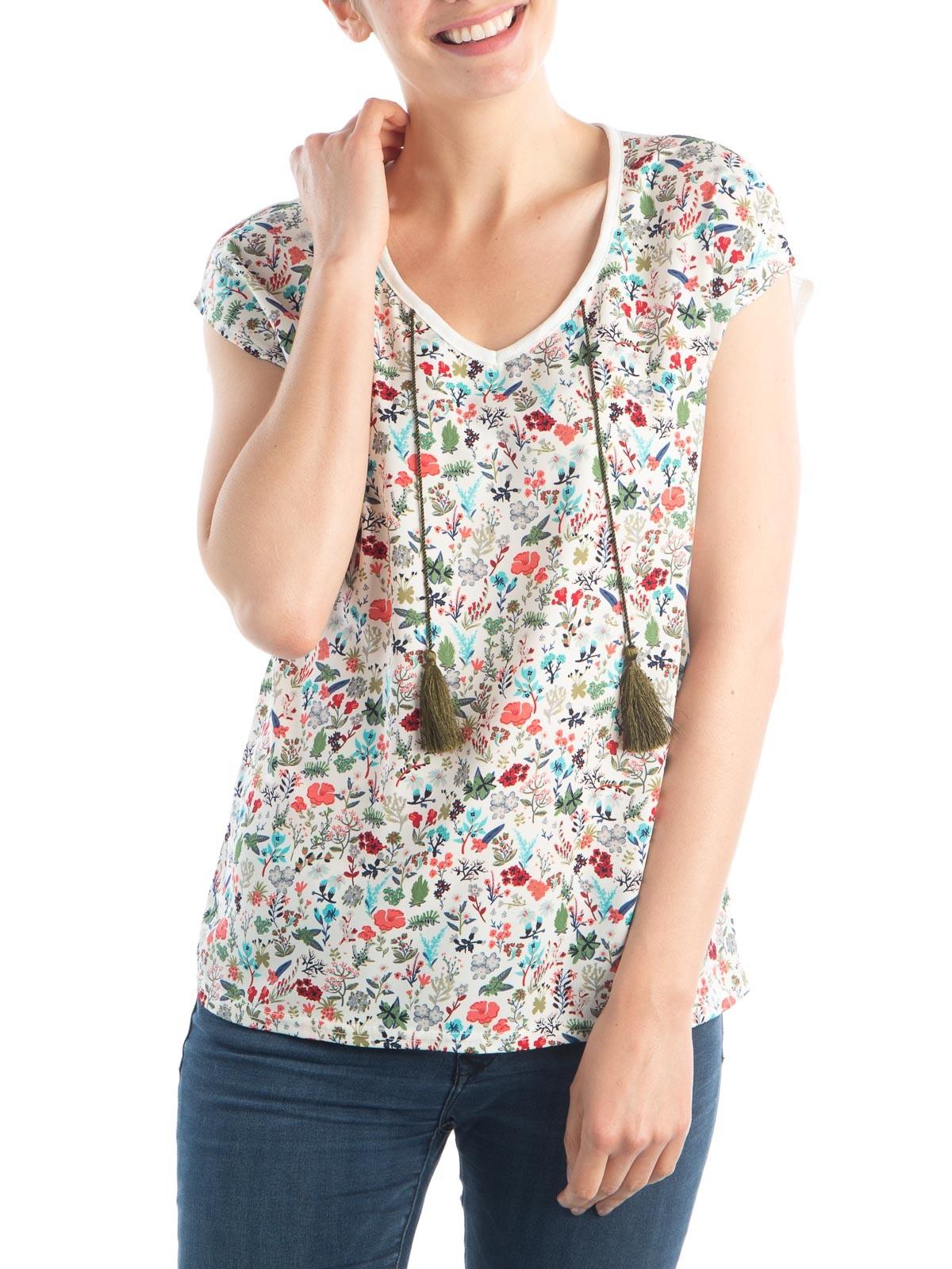 tee-shirt fleuri grande taille femme