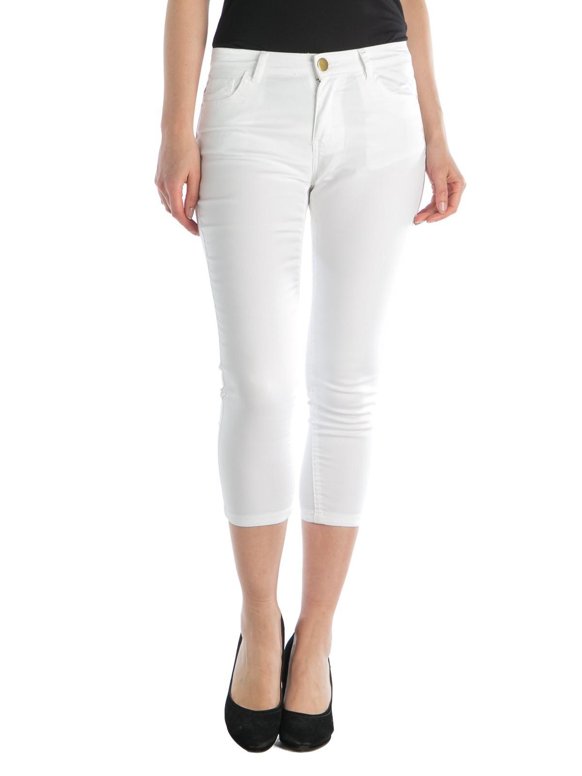 taille 40 c3550 00ff1 Pantacourt femme blanc - DistriCenter