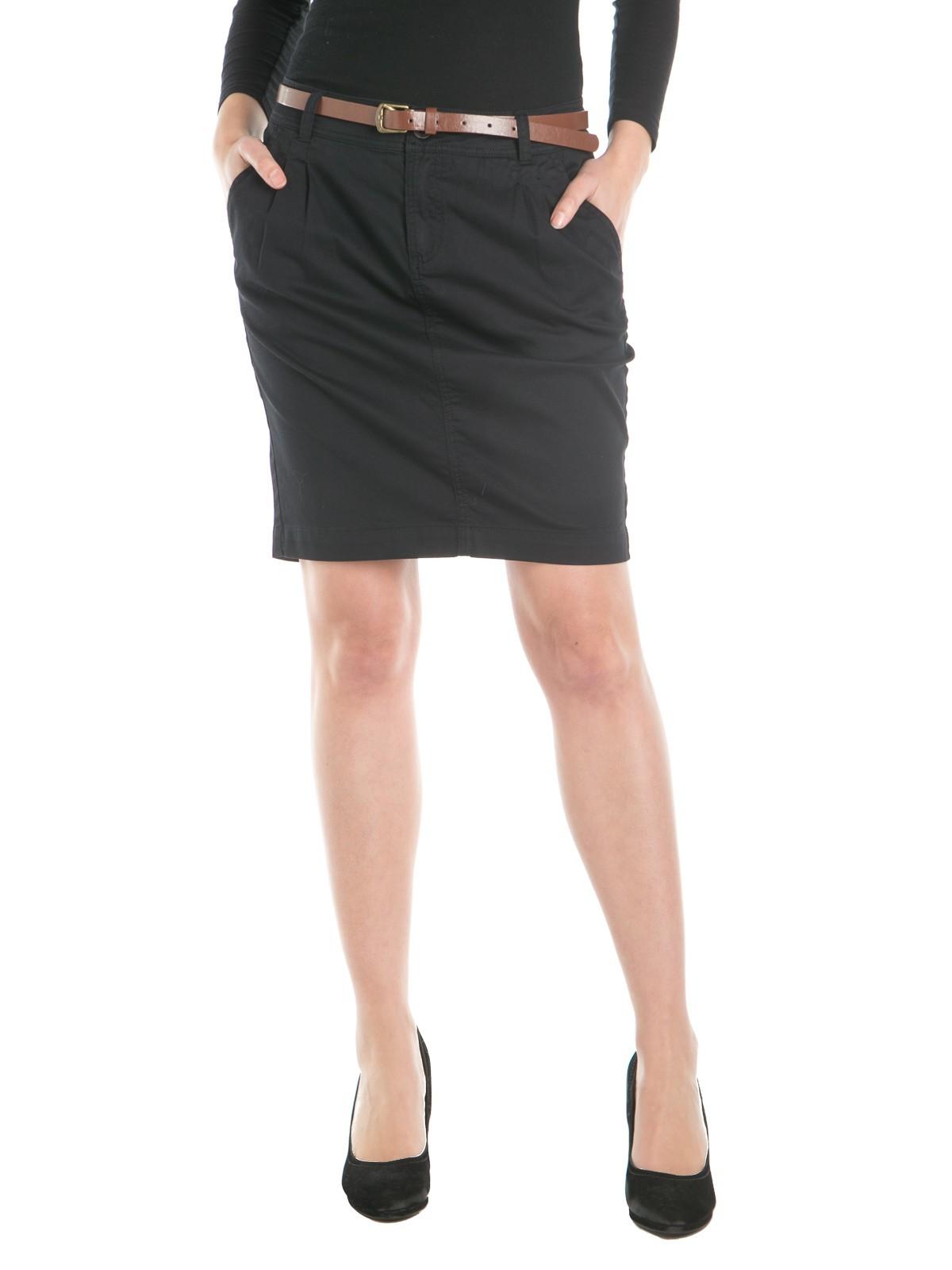 jupe noir chino femme districenter. Black Bedroom Furniture Sets. Home Design Ideas