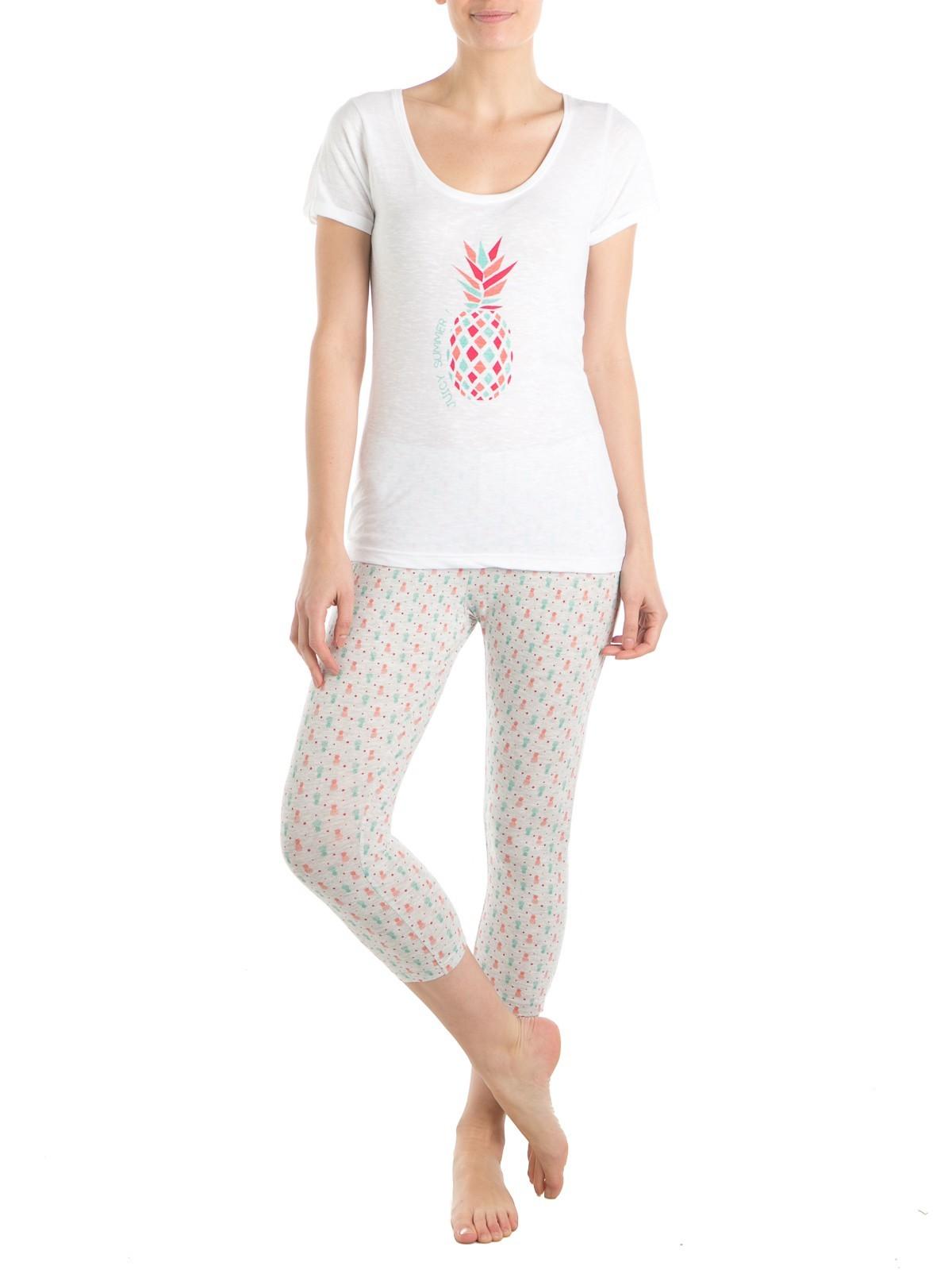 pyjama pur coton ananas femme districenter. Black Bedroom Furniture Sets. Home Design Ideas
