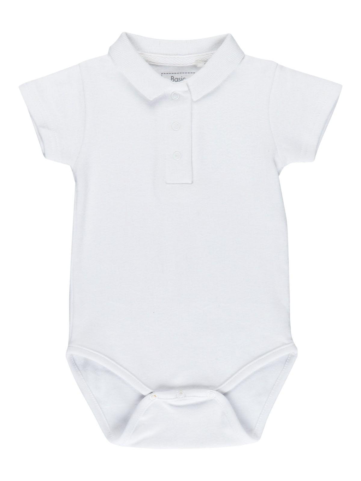 Body polo bébé blanc garçon (3-24M) - DistriCenter 204c32f229a