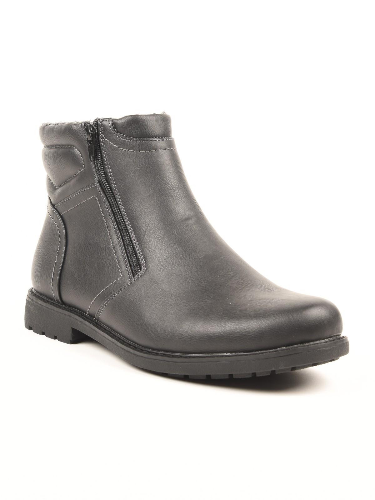boots double fermetures homme noir districenter. Black Bedroom Furniture Sets. Home Design Ideas