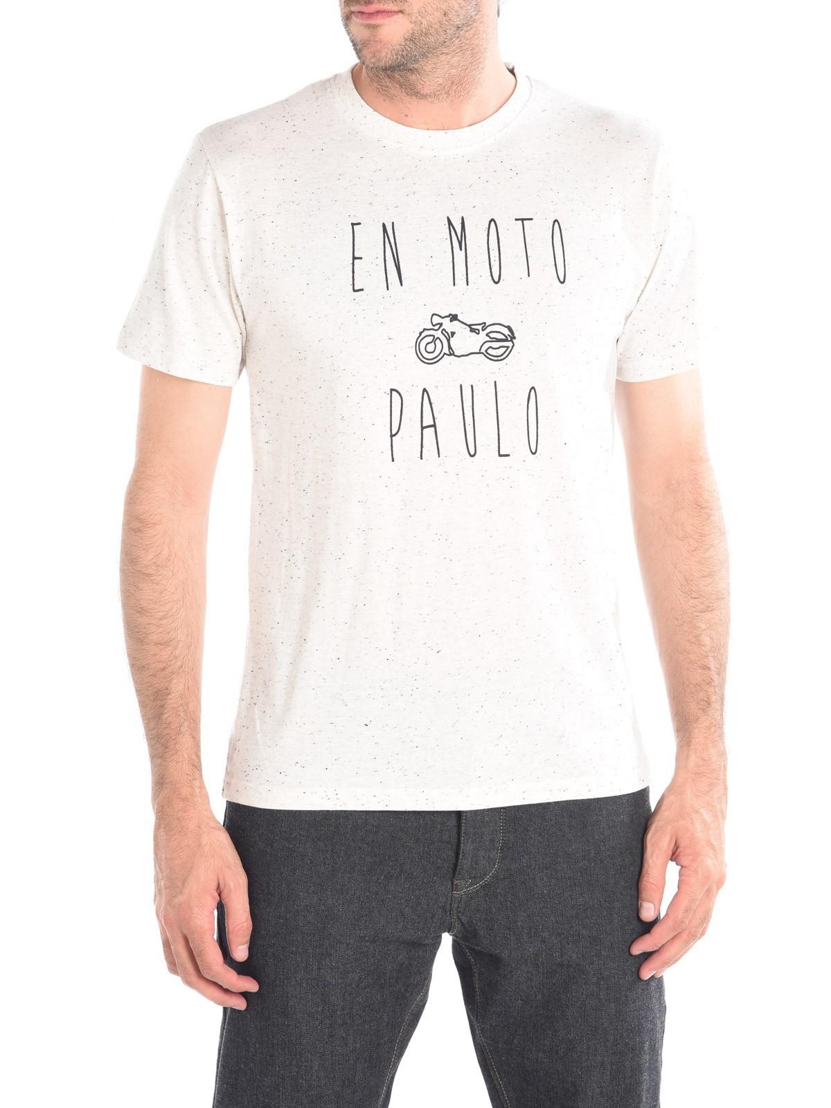 f20060612490b Tshirt message humour homme coloris écru - DistriCenter
