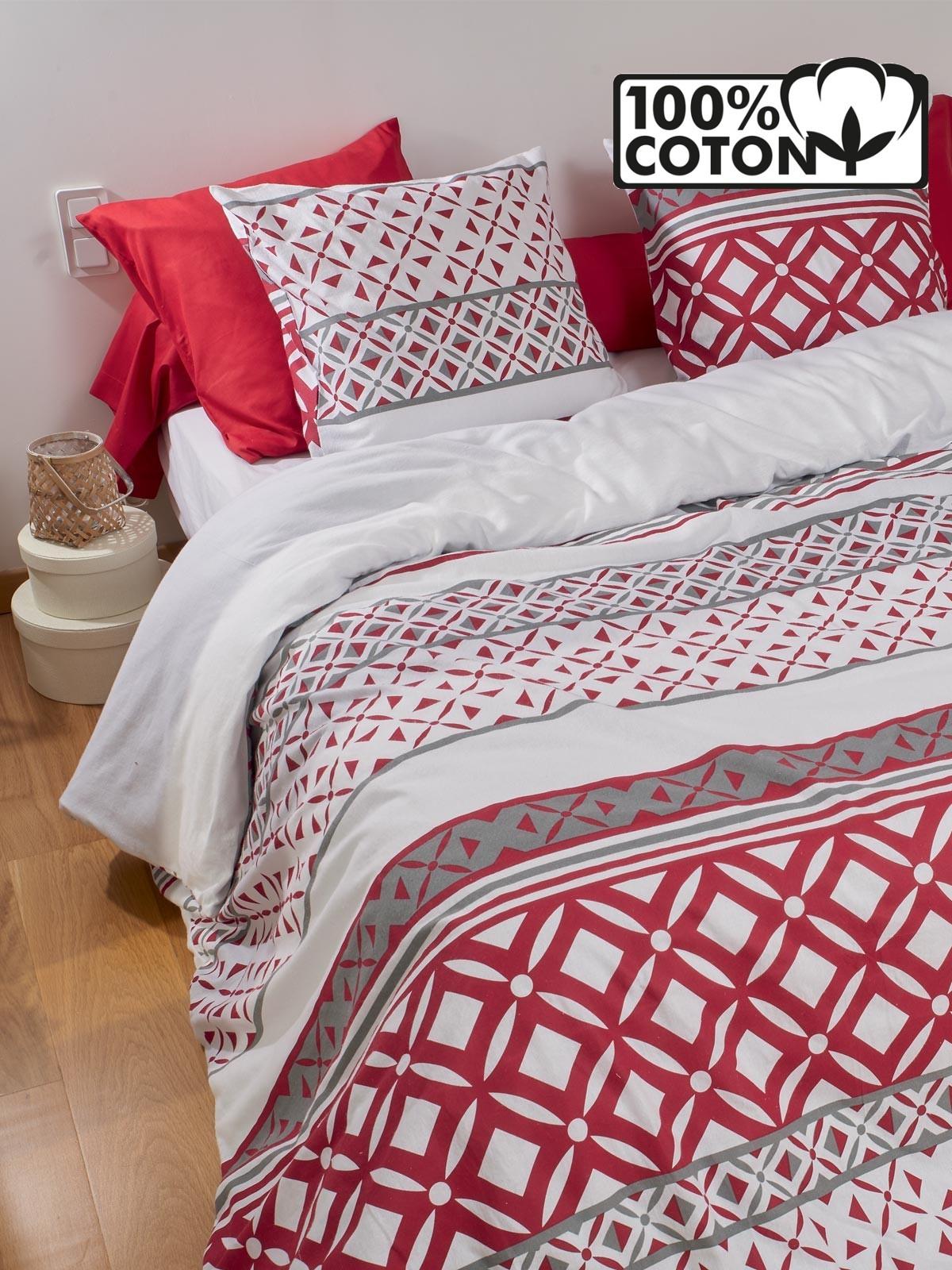 parure draps 2 pers flanelle 240x290 districenter. Black Bedroom Furniture Sets. Home Design Ideas