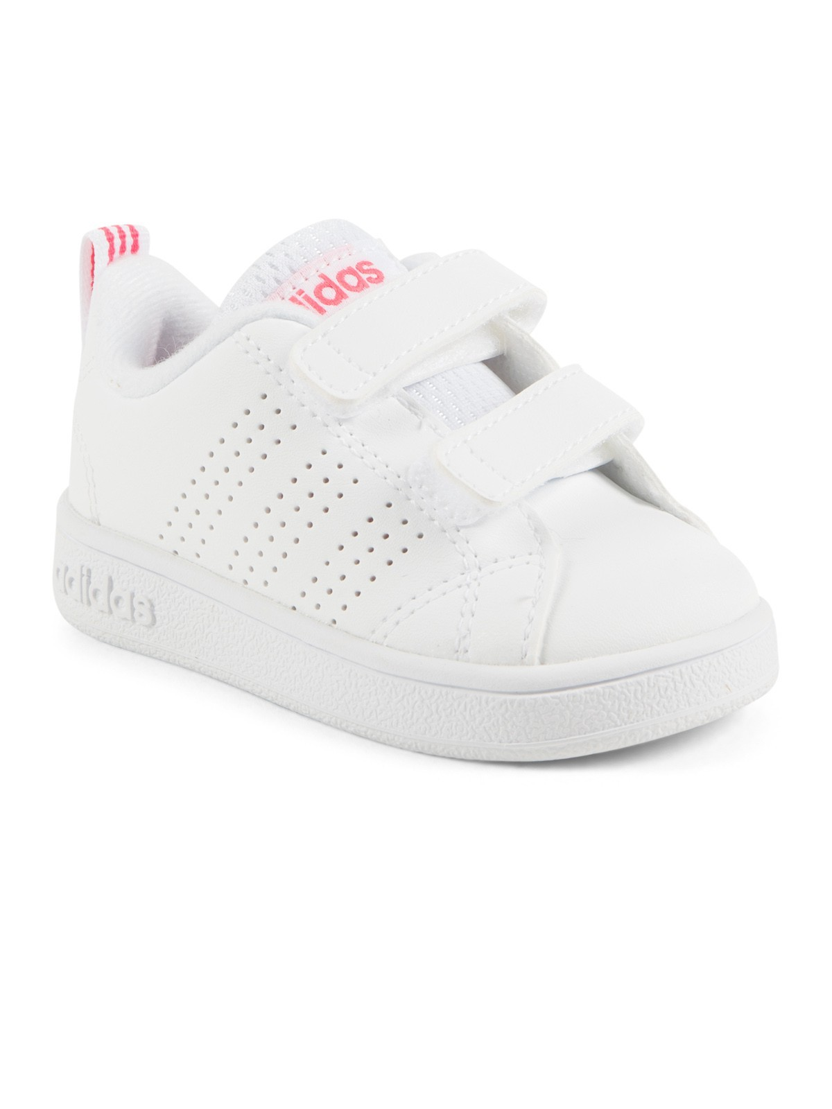 cheap price various colors shop Basket Adidas fille blanc/rose (19-23) - DistriCenter