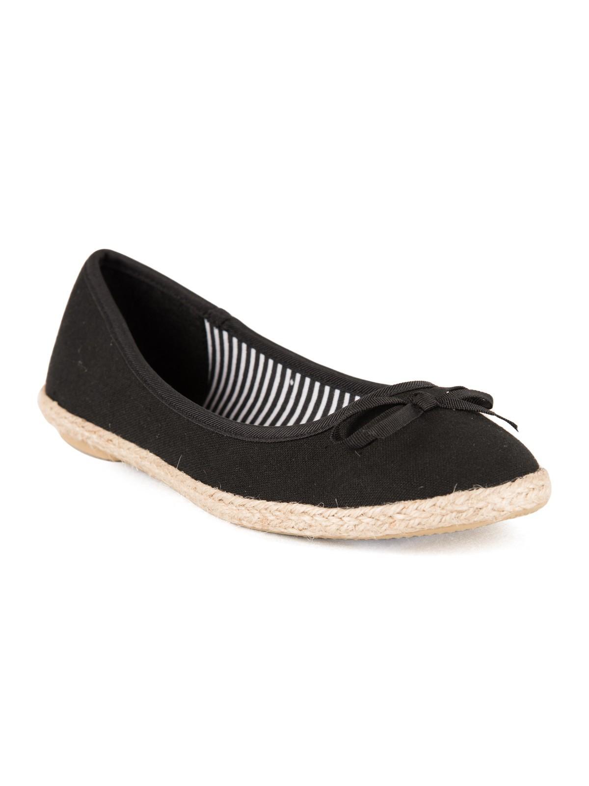 haut de gamme pas cher choisir le plus récent courir chaussures Ballerine espadrille femme noir (37-42) - DistriCenter