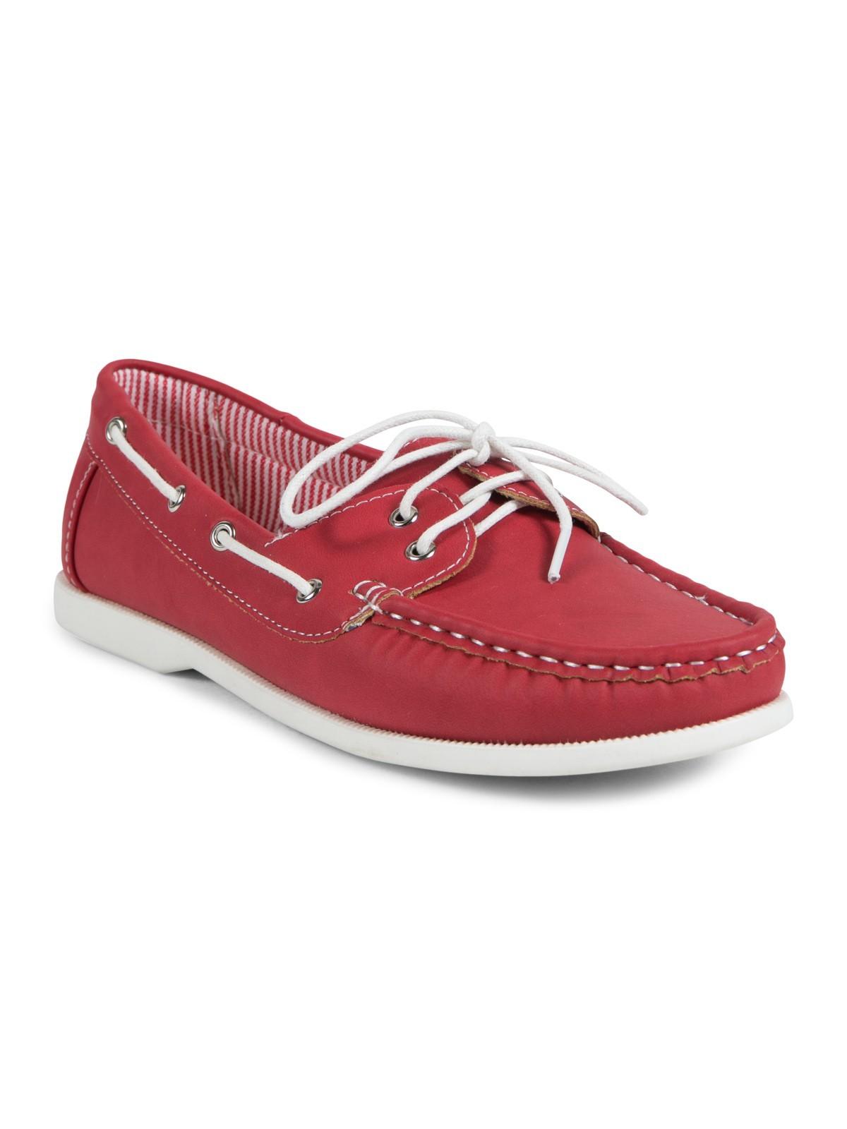 461c1bd1fa7 Chaussure bateau femme rouge (36-41) - DistriCenter