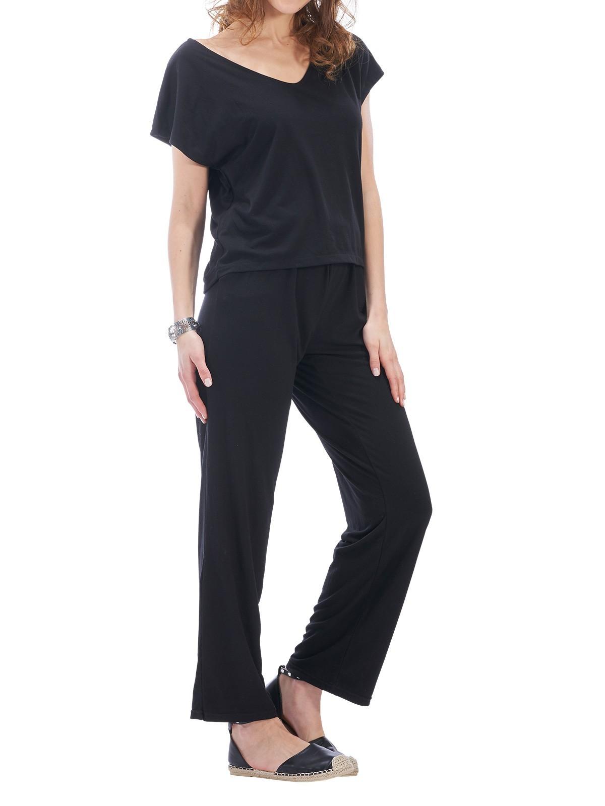Combinaison Pantalon Coloris Noir Femme Districenter ZPkXiOuT
