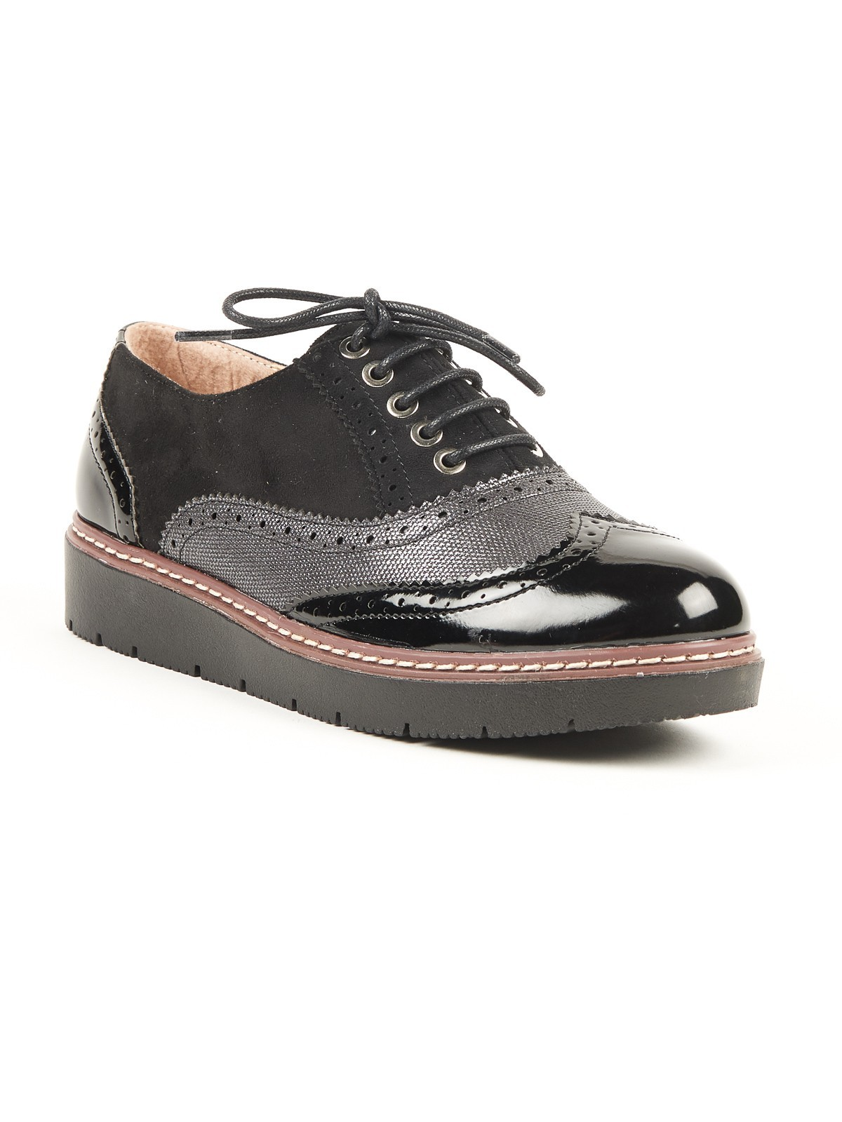 Chaussures à lacets femme noir (36 41) DistriCenter