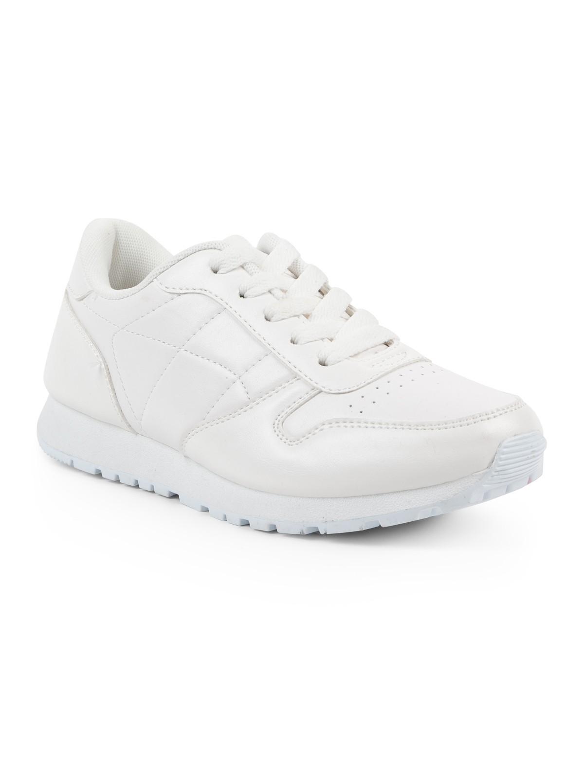 Basket femme coloris blanc (36 41) DistriCenter