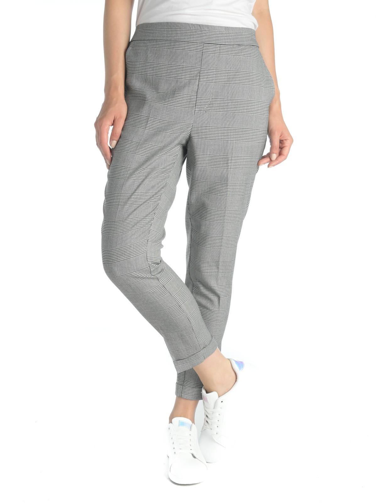 Pantalon imprimé prince de galles - DistriCenter f3dccc334d3