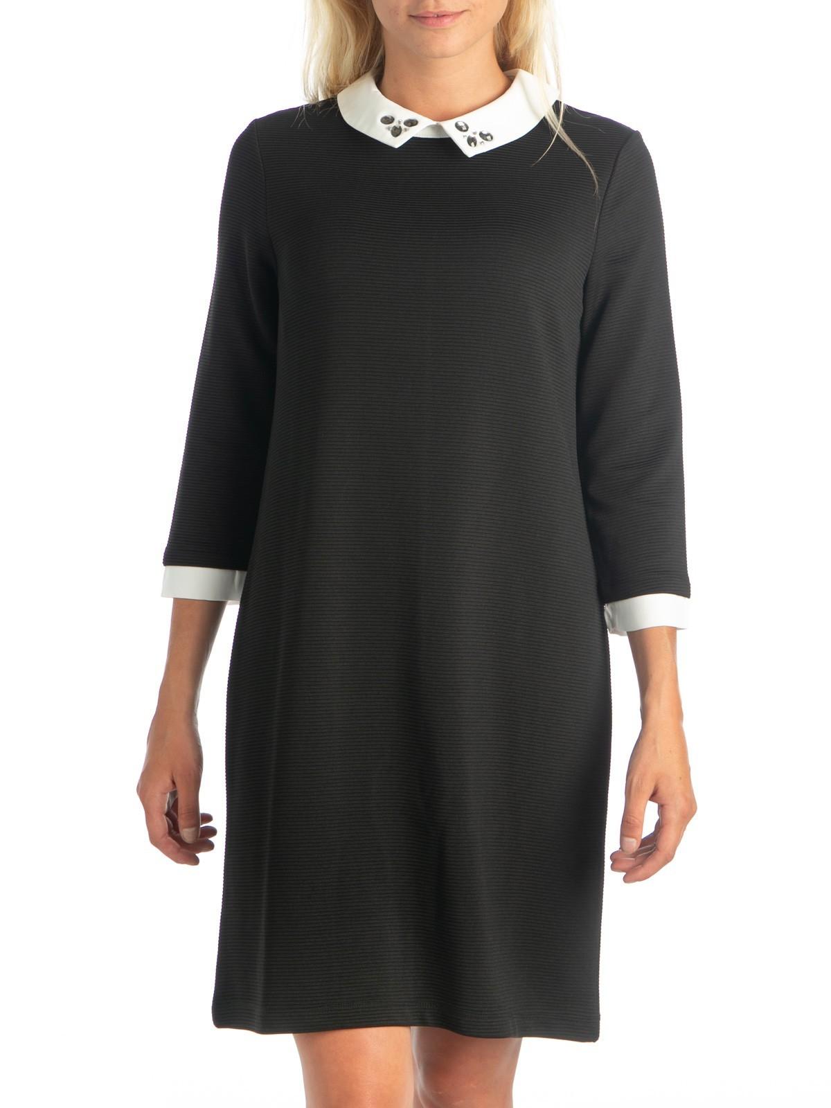 0c02ccdc748b8 Robe col claudine noir femme - DistriCenter