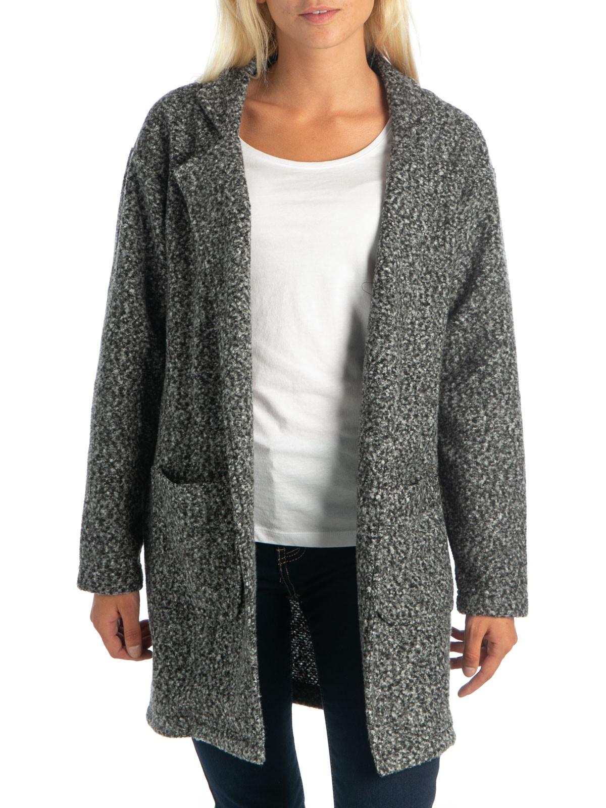 vente chaude en ligne 87fa2 ccedd Veste longue gris chiné femme - DistriCenter