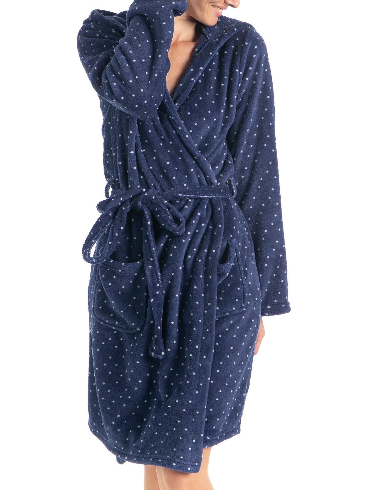 Robe De Chambre Polaire à Pois Femme Districenter