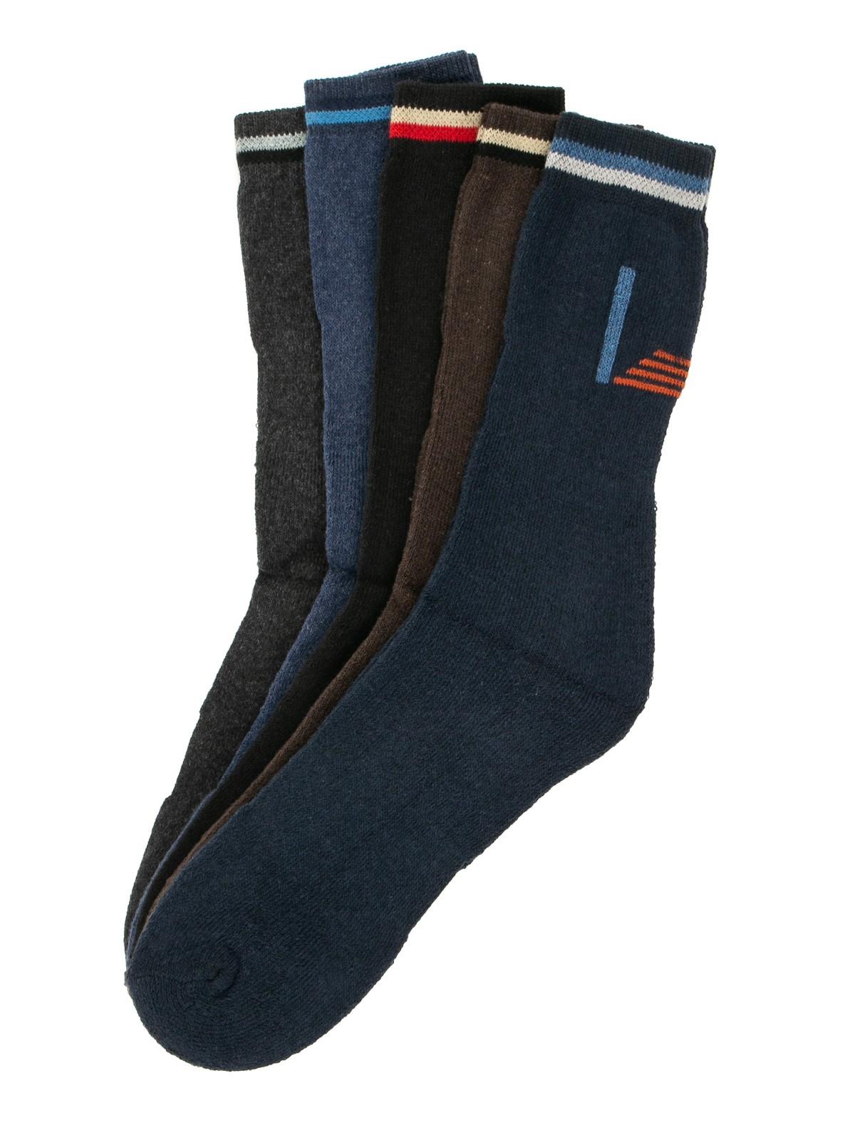 SPGOOD Lot de 5 paires de chaussettes de randonn/ée respirantes pour homme et femme