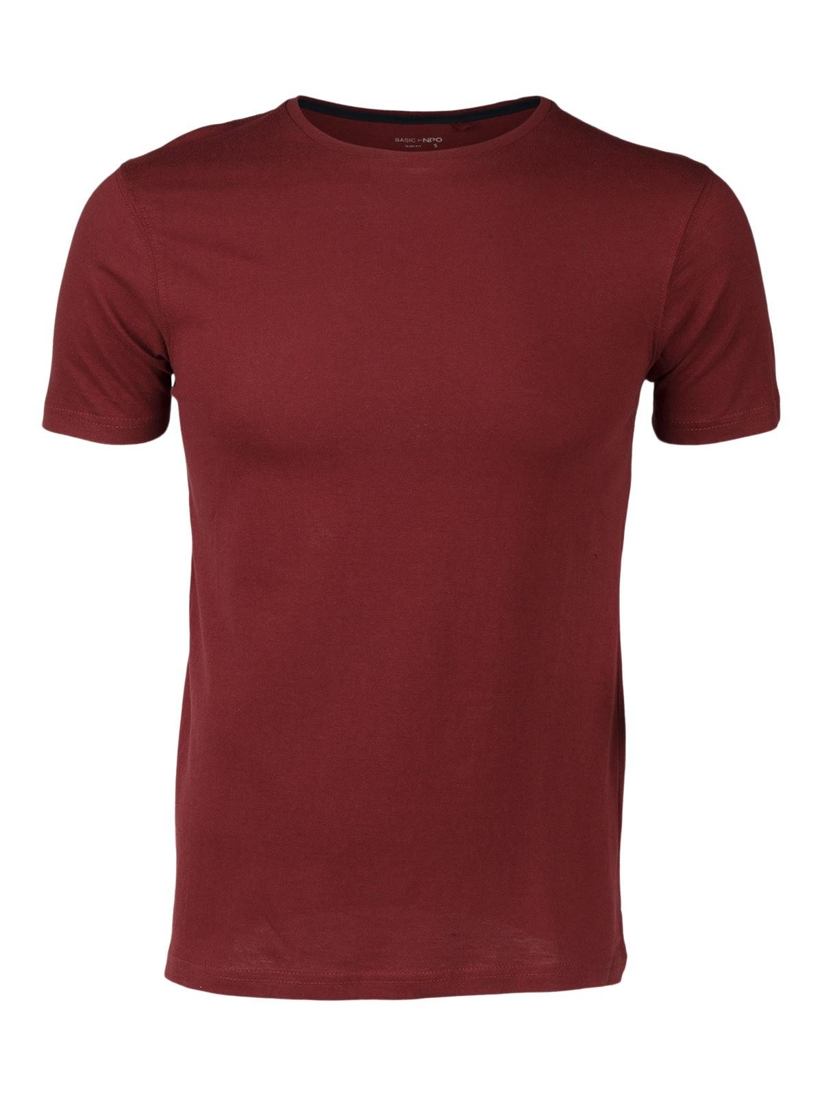 T-Shirt Hommes Manches Courtes Col Rond Bordeaux thé modèle 3589