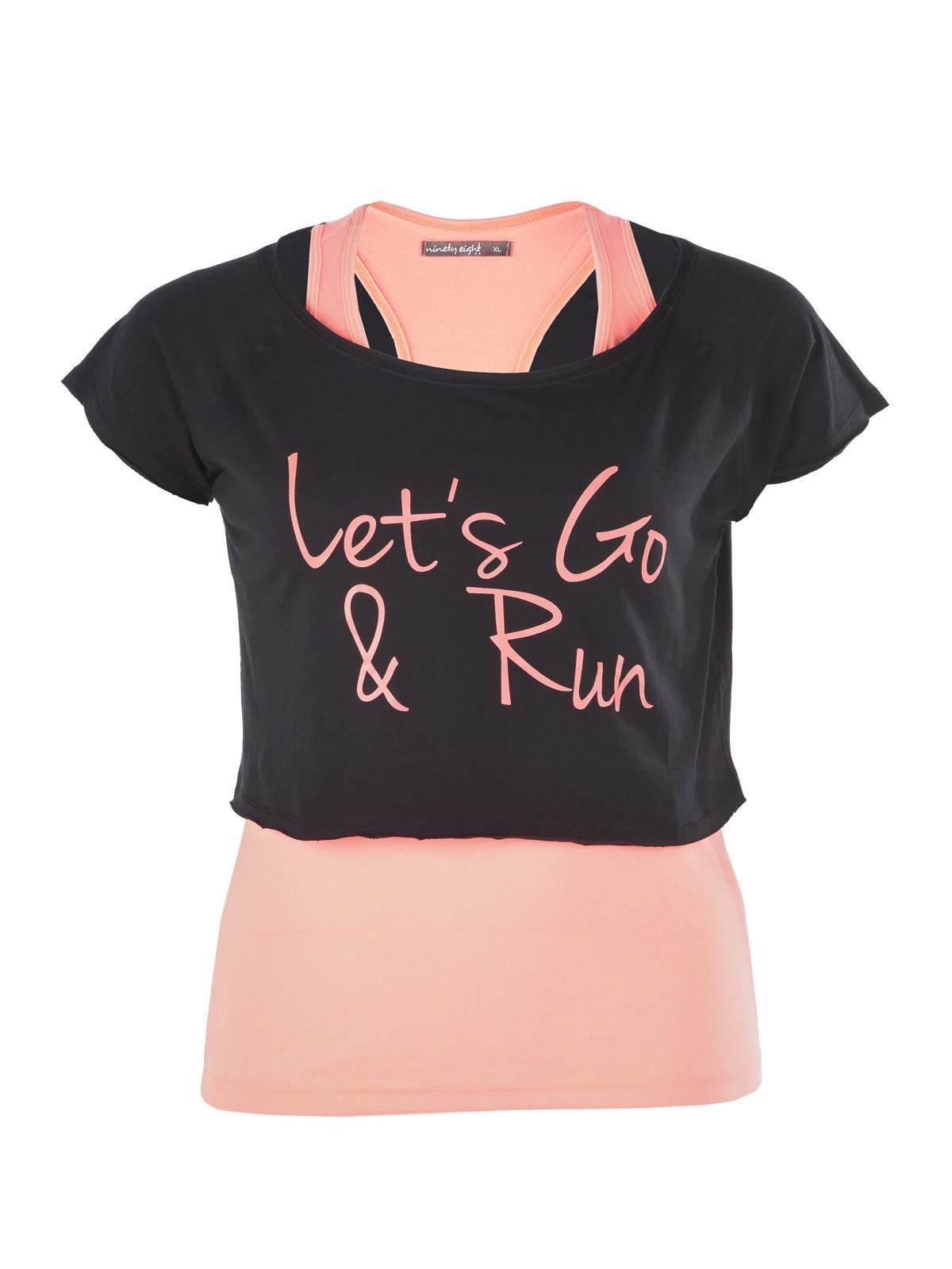 tee shirt sport grande taille femme districenter. Black Bedroom Furniture Sets. Home Design Ideas