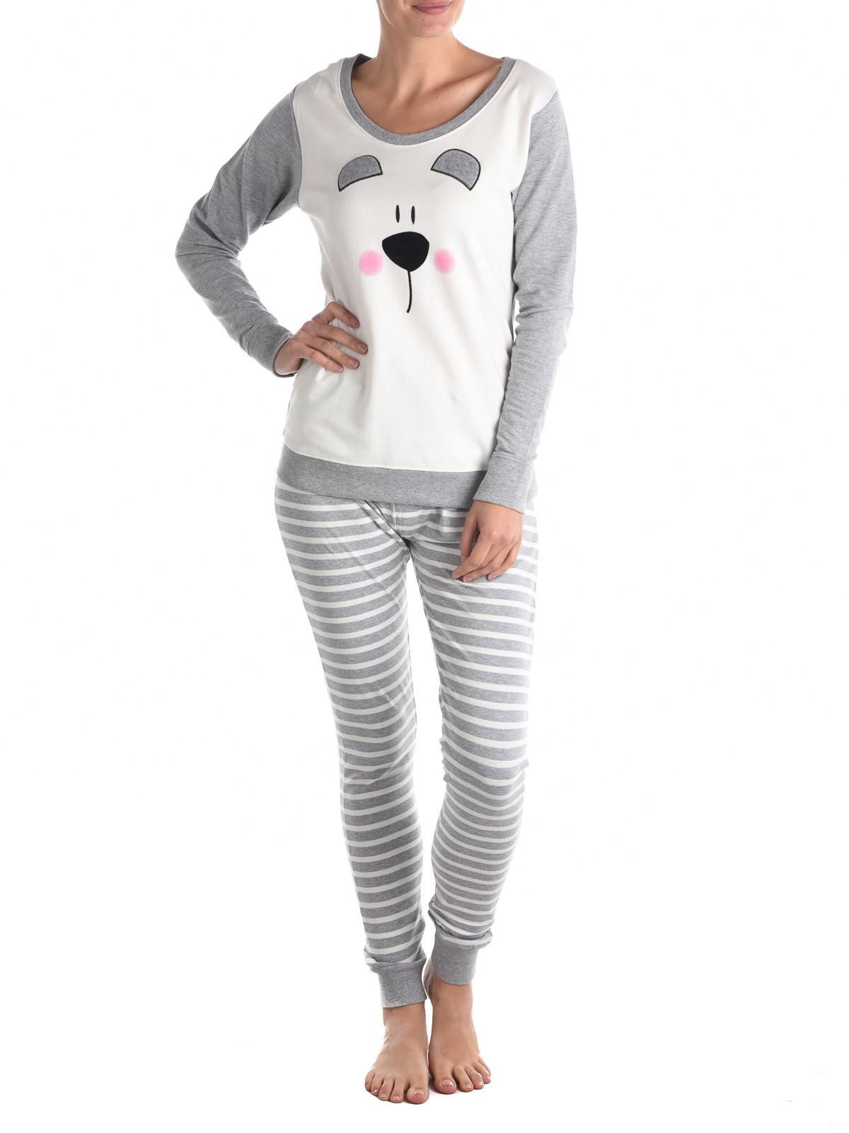 Ensemble Pyjama Tête Femme Avec Districenter D'ours rrqSO