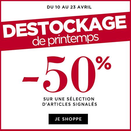 -50% Destockage