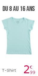 tshirt basic fille ados